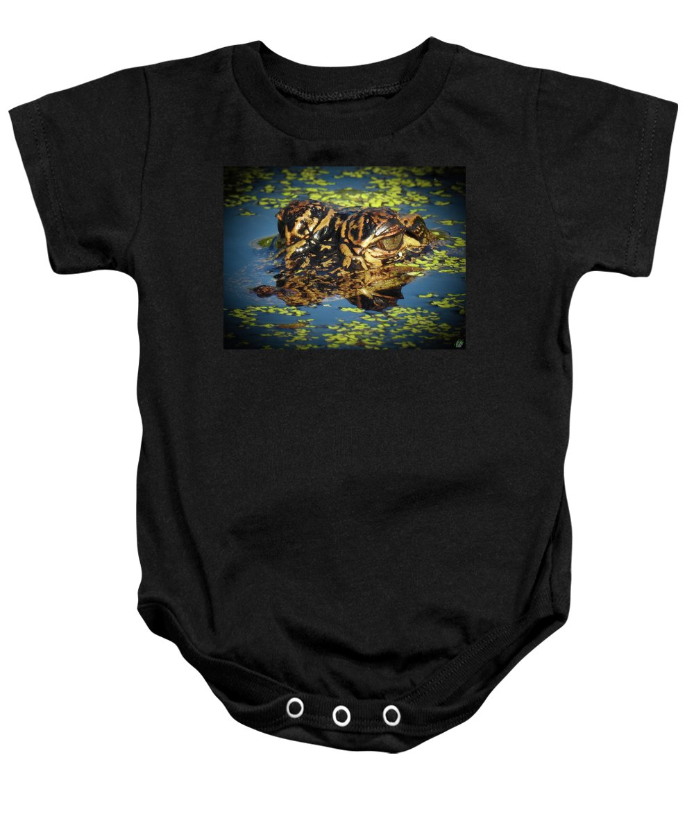 Nature Baby Onesie featuring the photograph Growing Up Gator, No. 33 by Elie Wolf
