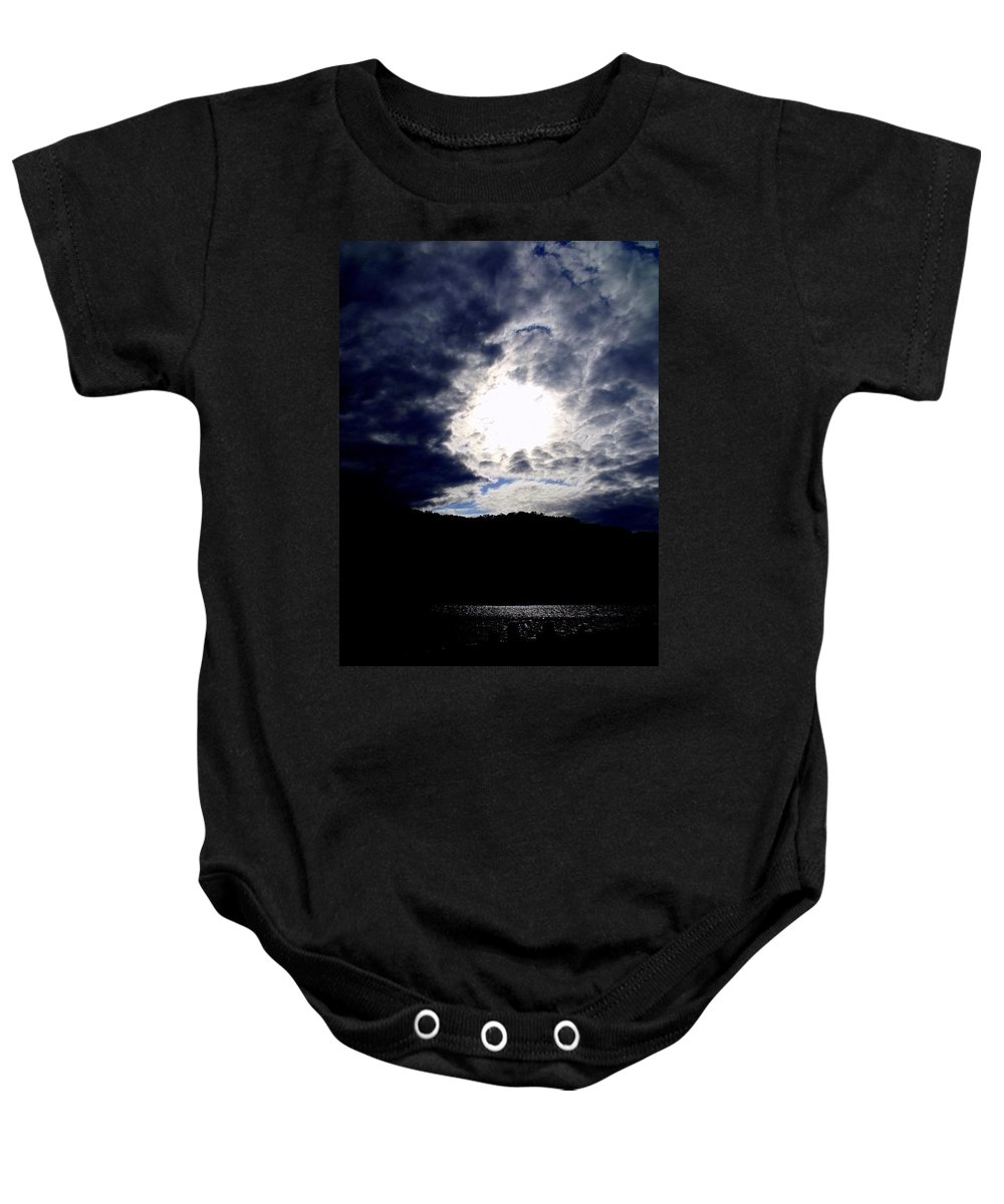 Sky Baby Onesie featuring the photograph Guardian Of The Portal by Ed Smith