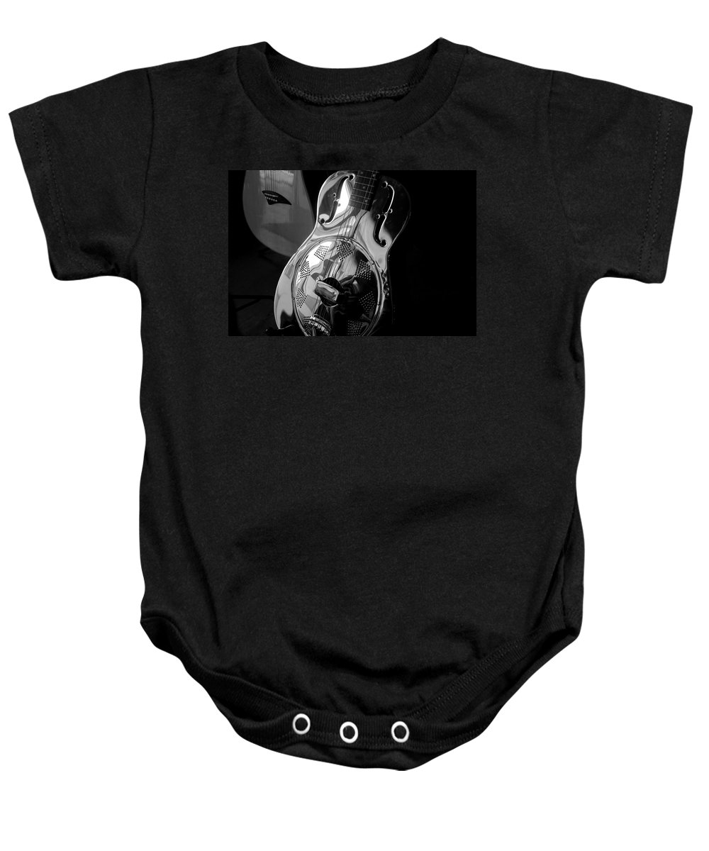 Guitars Baby Onesie featuring the photograph Guitars by David Lee Thompson