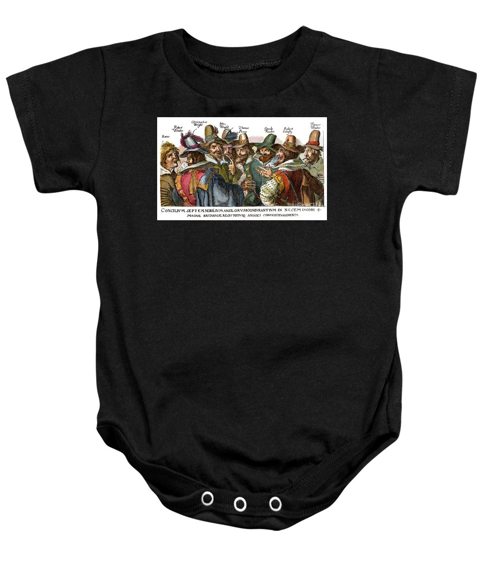 1605 Baby Onesie featuring the drawing Guy Fawkes, 1570-1606 by Granger