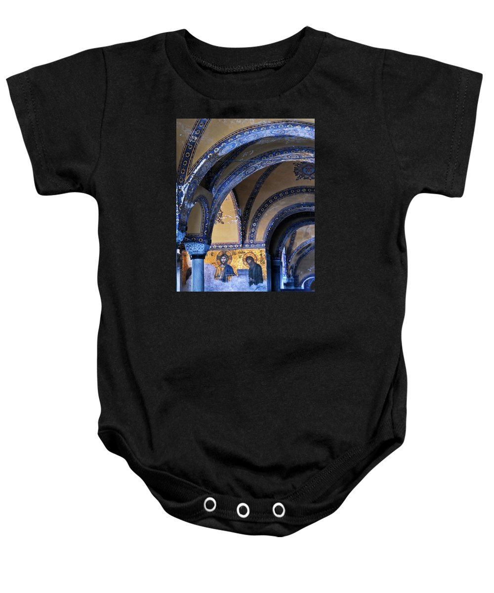 Turkey Baby Onesie featuring the photograph Hagia Sophia Detail by Alan Toepfer