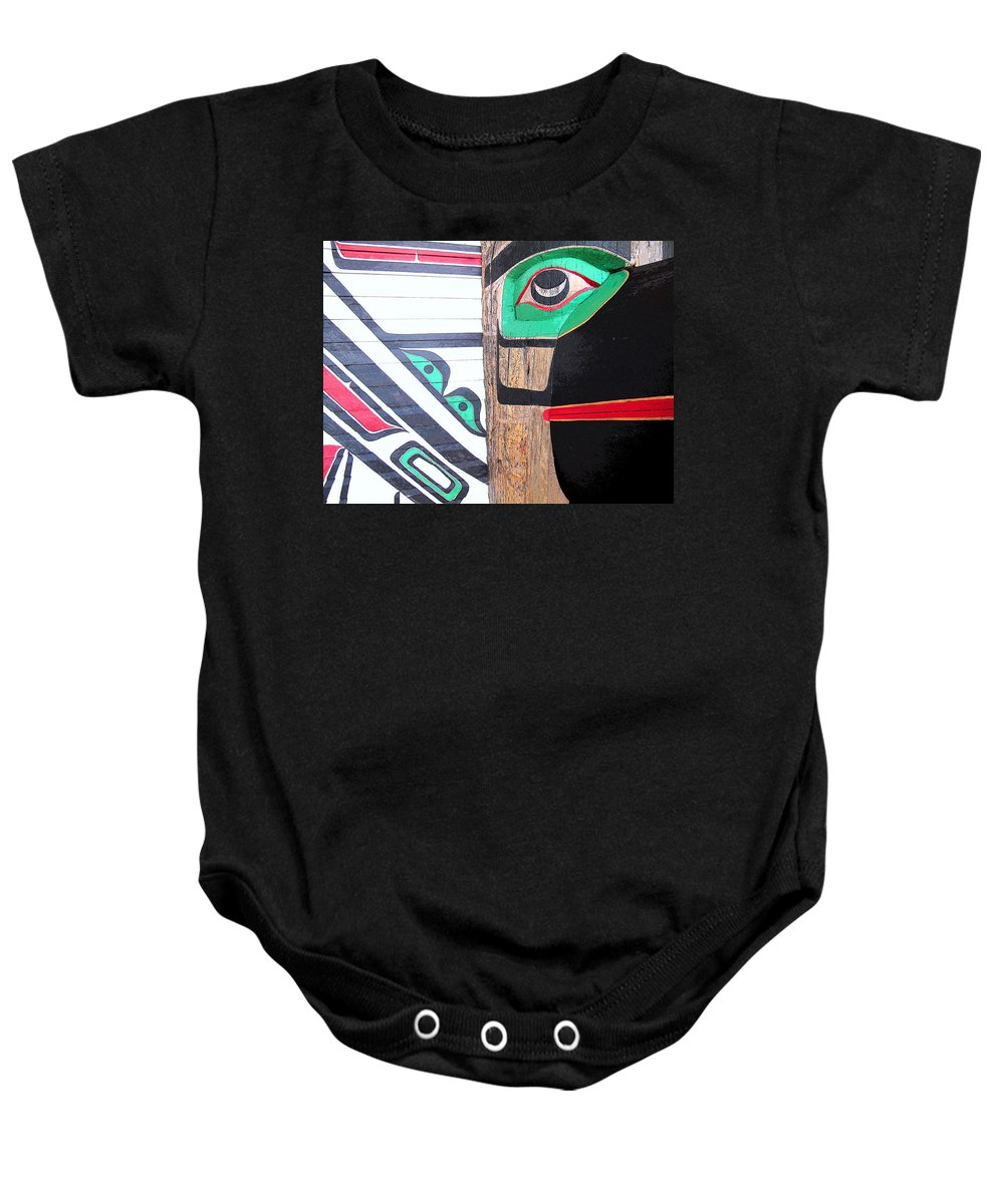 Bird Baby Onesie featuring the photograph Haida One by Ian MacDonald