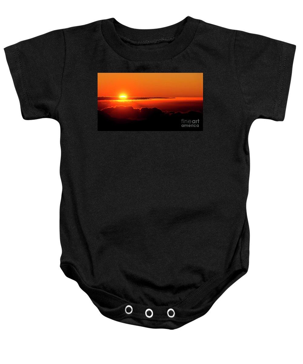 Sunrise Baby Onesie featuring the photograph Maui Hawaii Haleakala National Park Sunrise IIi by Jim Cazel