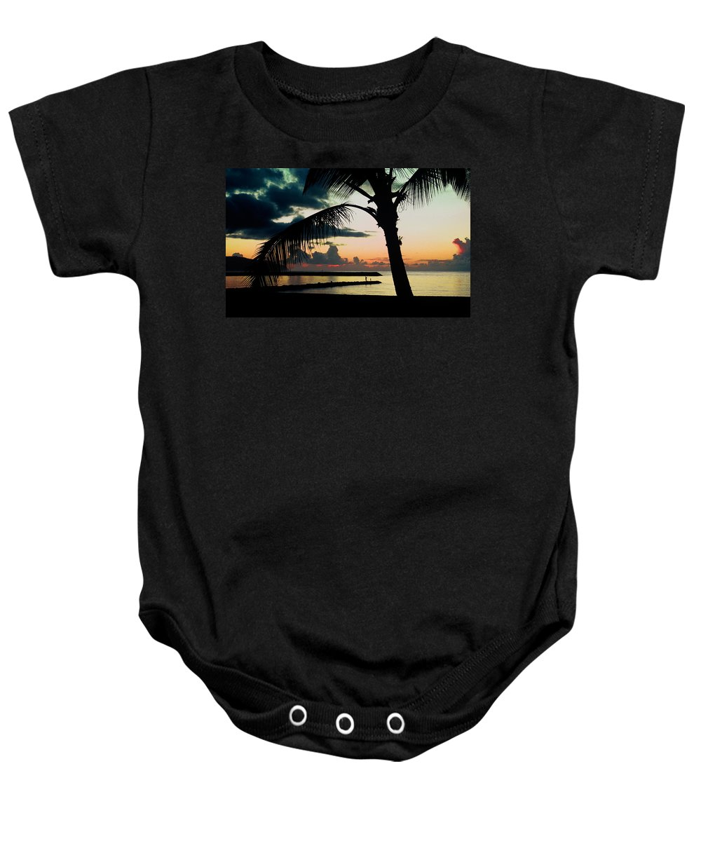 Haleiwa Baby Onesie featuring the photograph Haleiwa by Steven Sparks