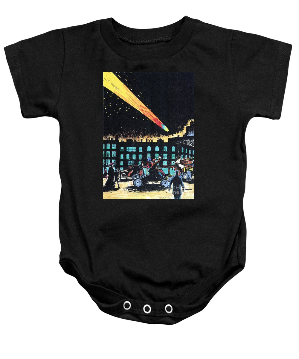 1910 Baby Onesie featuring the photograph Halleys Comet, 1910 by Granger