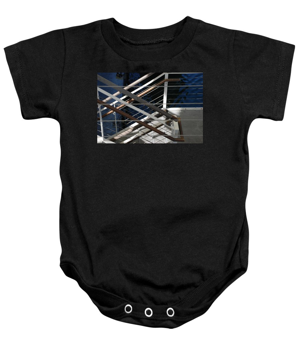 Water Baby Onesie featuring the photograph Hand Rails by Rob Hans