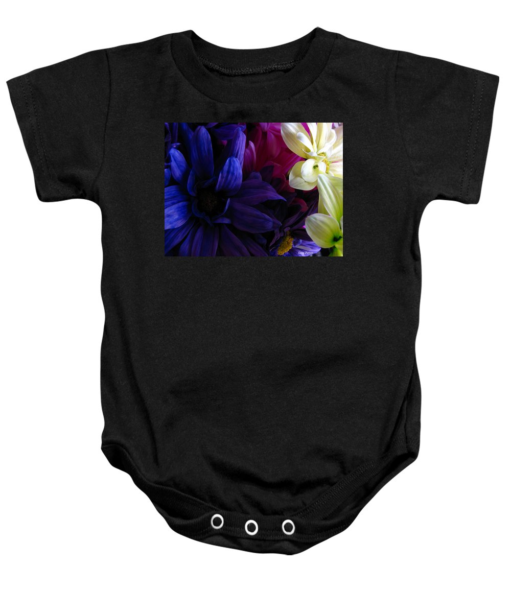 Patzer Baby Onesie featuring the photograph Happy Flowers by Greg Patzer