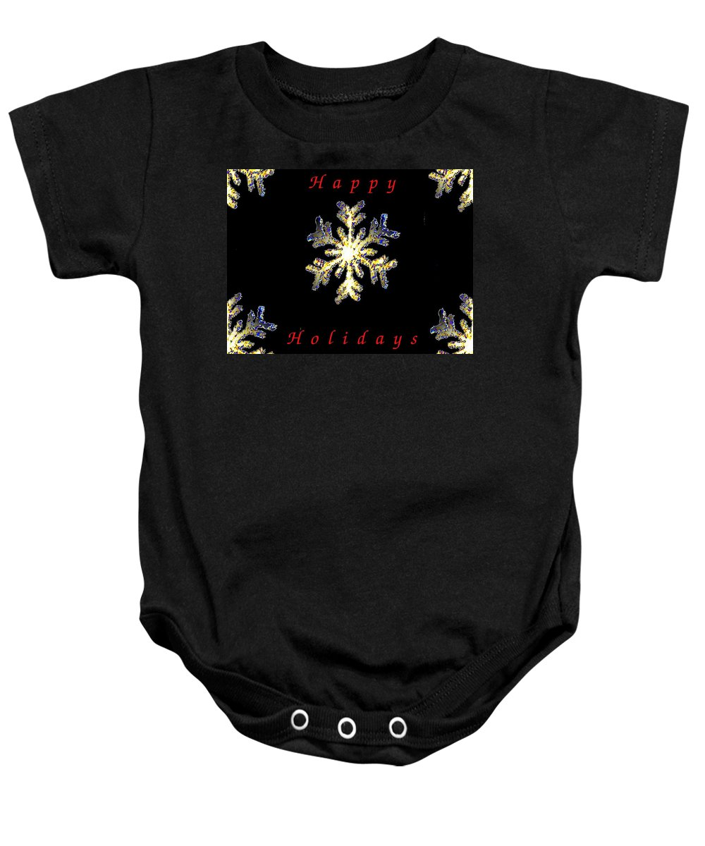 Holiday Baby Onesie featuring the photograph Happy Holiday Snowflakes by Tim Allen