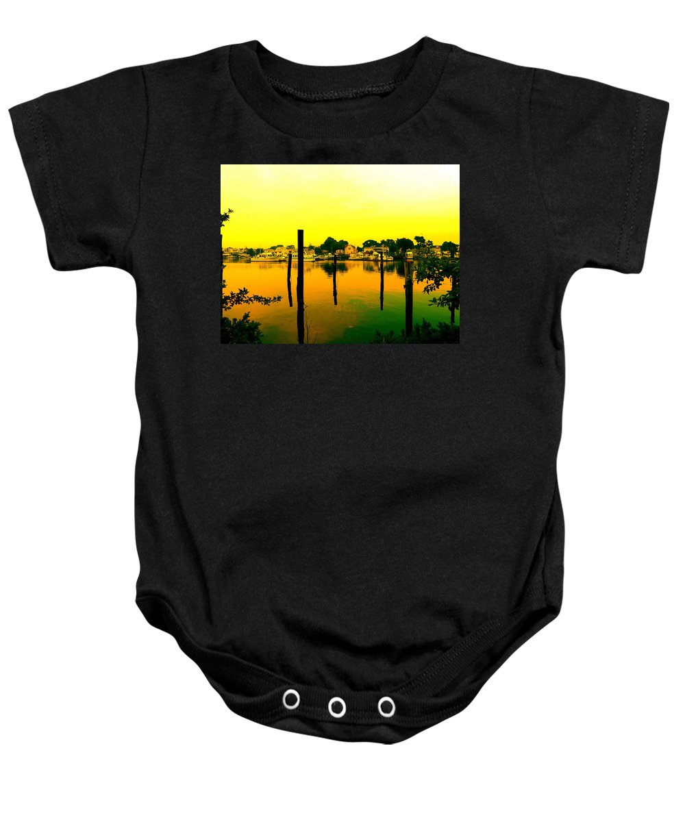 Waterscape Baby Onesie featuring the photograph Happy Homes by Kendall Eutemey