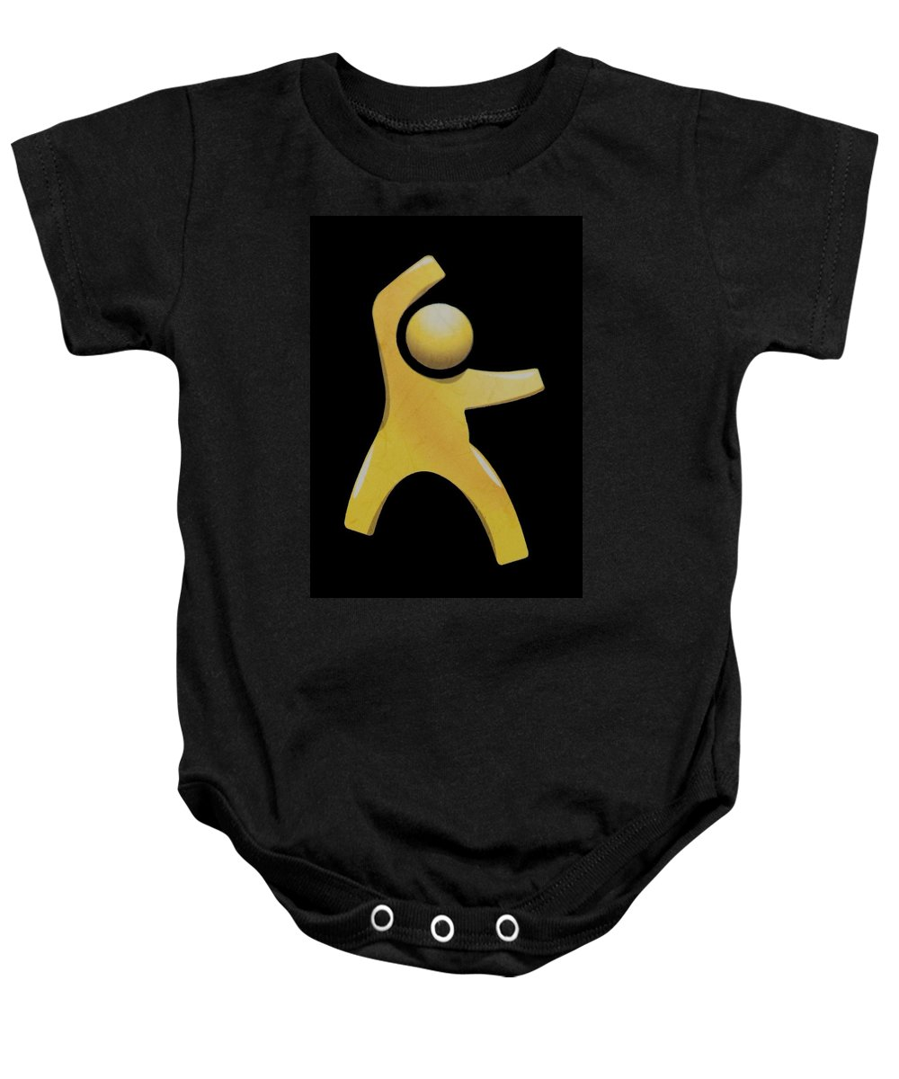 Man Baby Onesie featuring the photograph Happy Man by Rob Hans