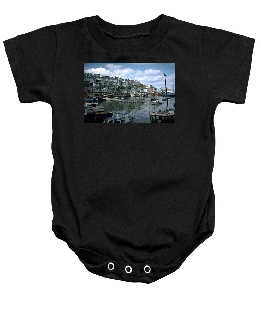 Great Britain Baby Onesie featuring the photograph Harbor by Flavia Westerwelle