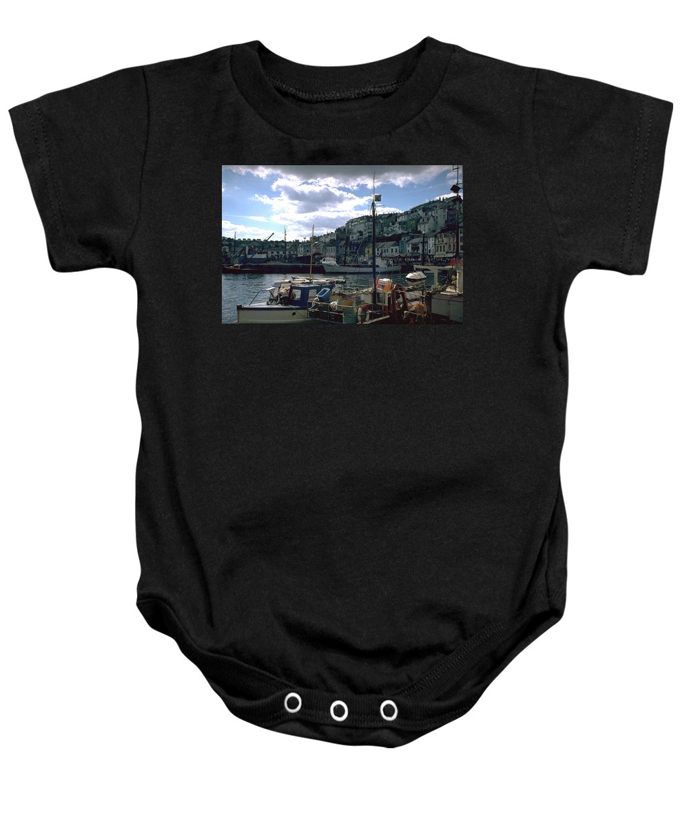 Great Britain Baby Onesie featuring the photograph Harbor II by Flavia Westerwelle