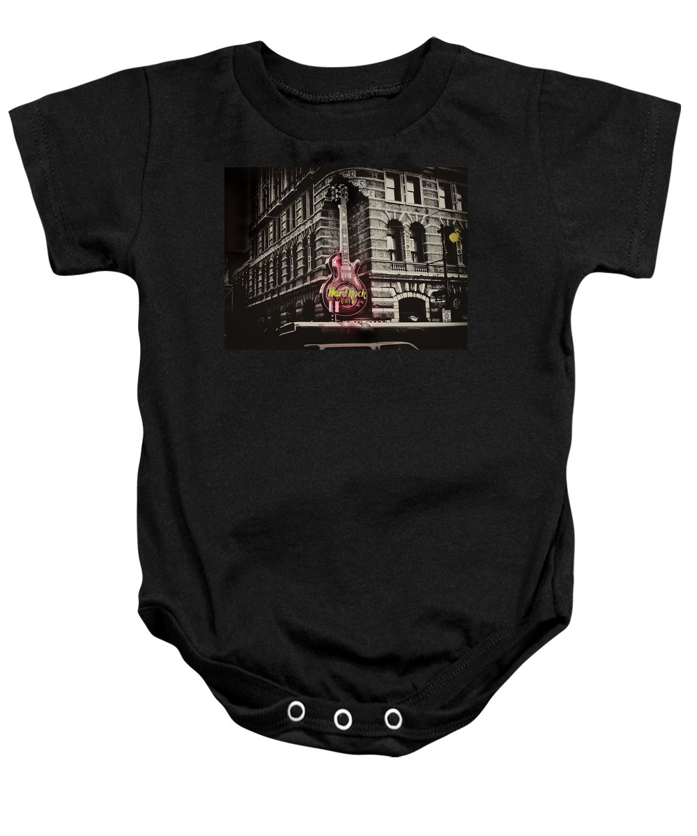Philadelphia Baby Onesie featuring the photograph Hard Rock Philly by Bill Cannon