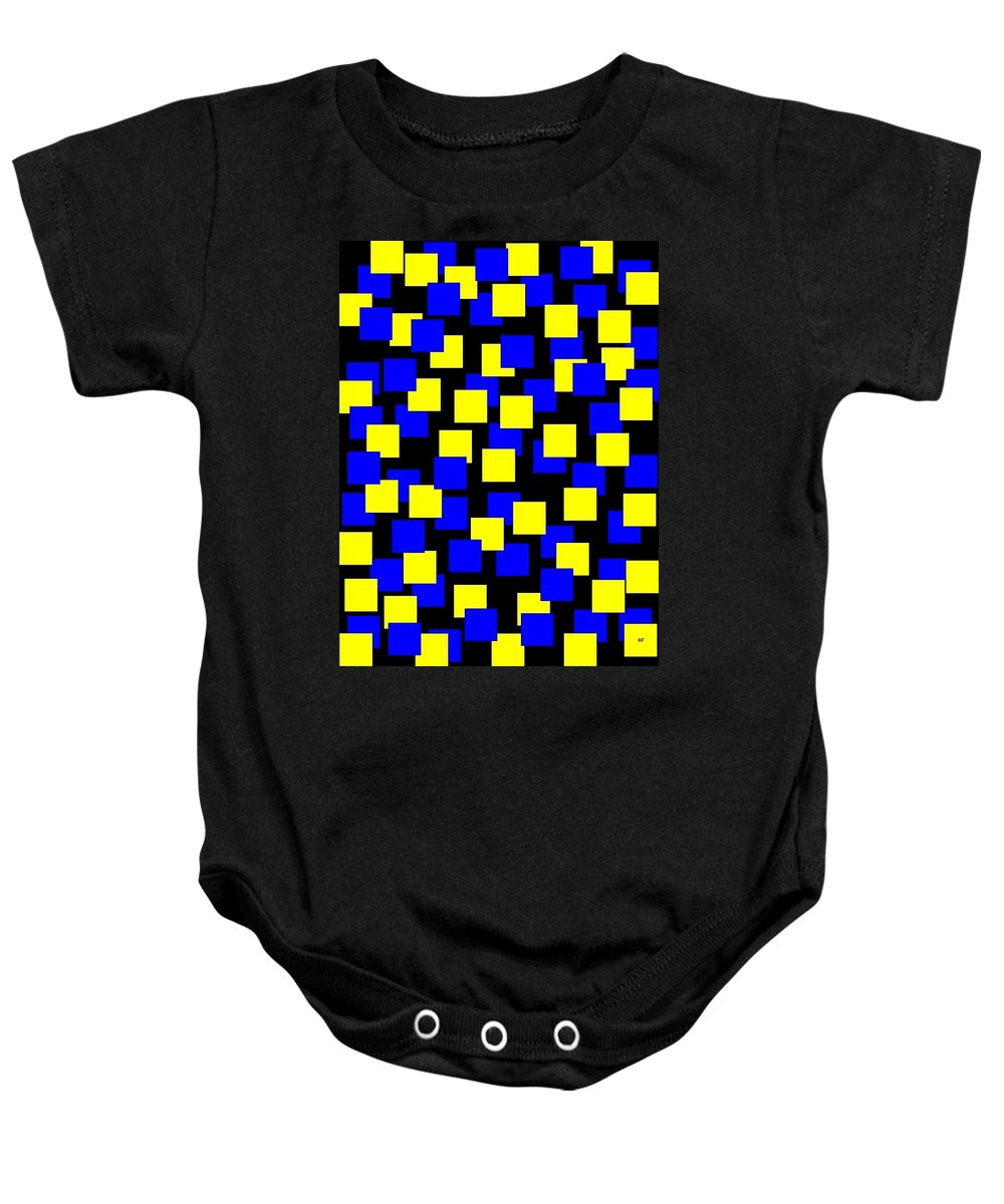 Abstract Baby Onesie featuring the digital art Harmony 1 by Will Borden