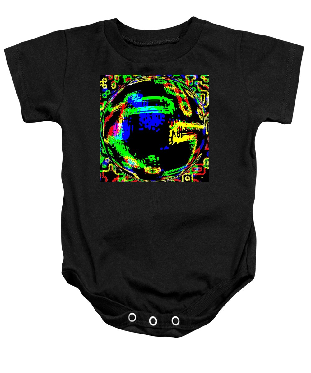 Abstract Baby Onesie featuring the digital art Harmony 13 by Will Borden