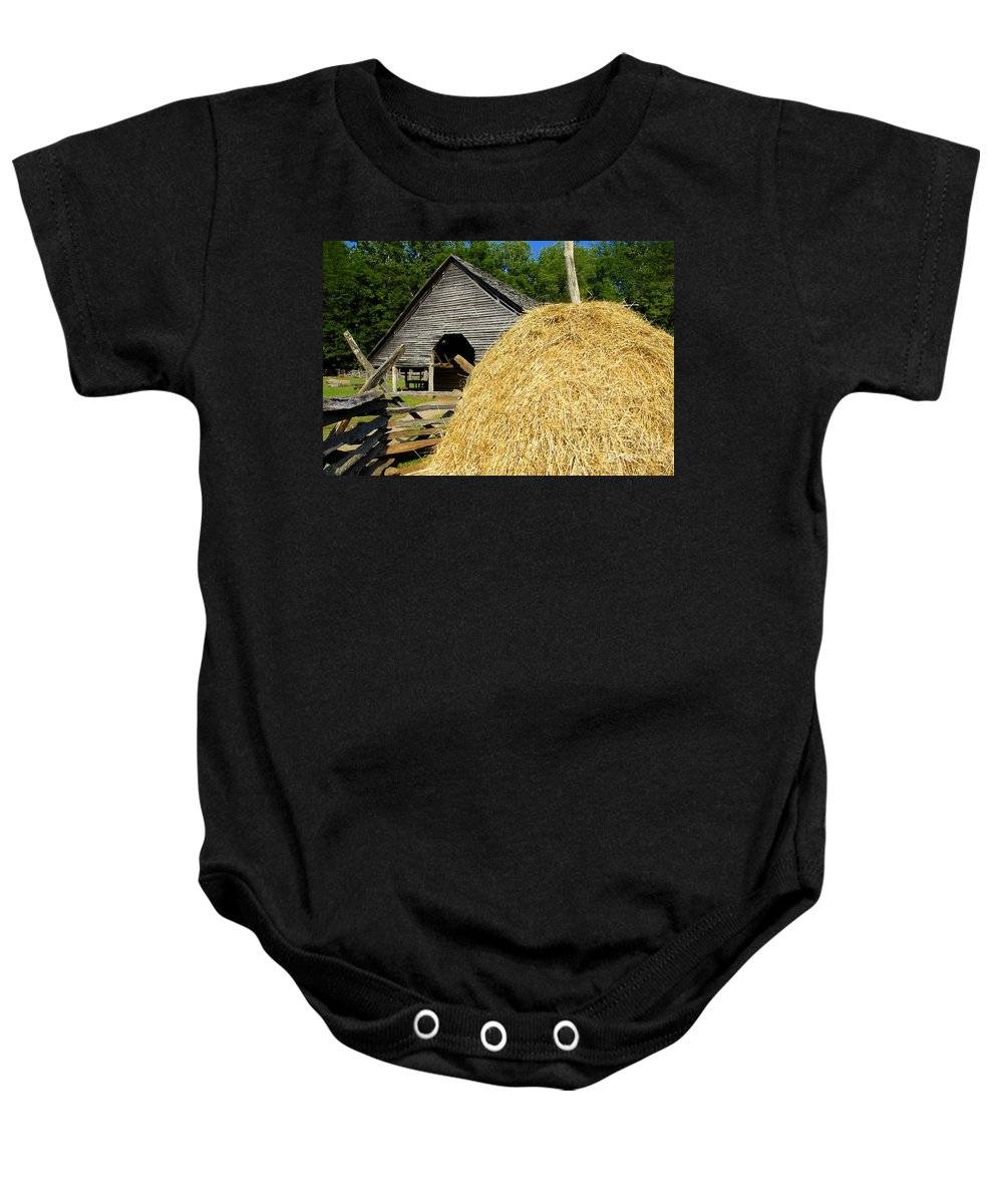 Harvest Baby Onesie featuring the photograph Harvest by David Lee Thompson