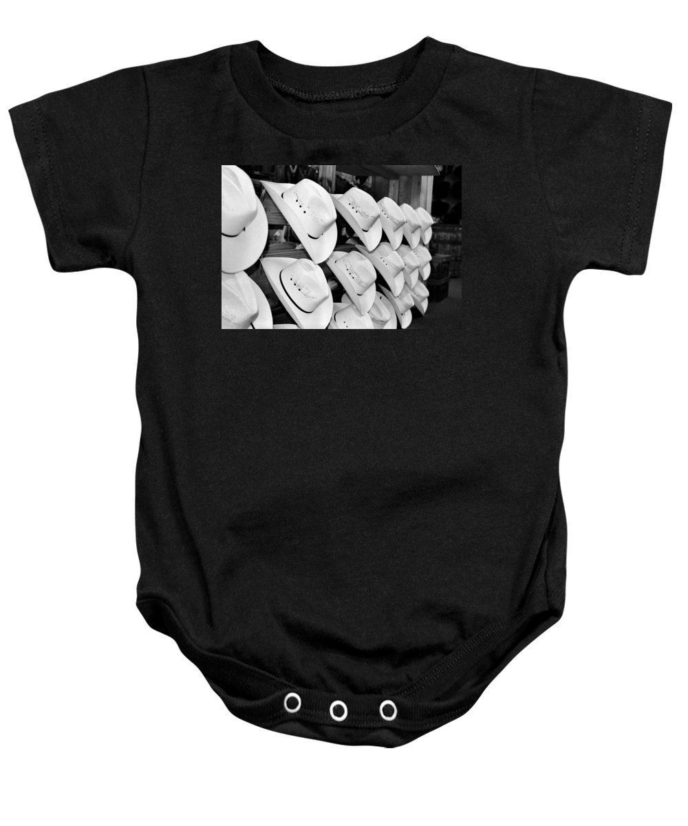 Hat Baby Onesie featuring the photograph Hat And Boot Store Nashville Tn by Joseph Mari
