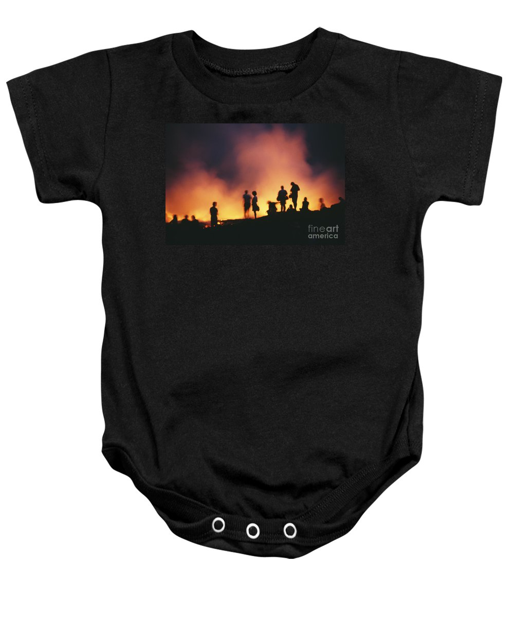 Active Baby Onesie featuring the photograph Hawaii Volcanoes National Park by Bob Abraham - Printscapes