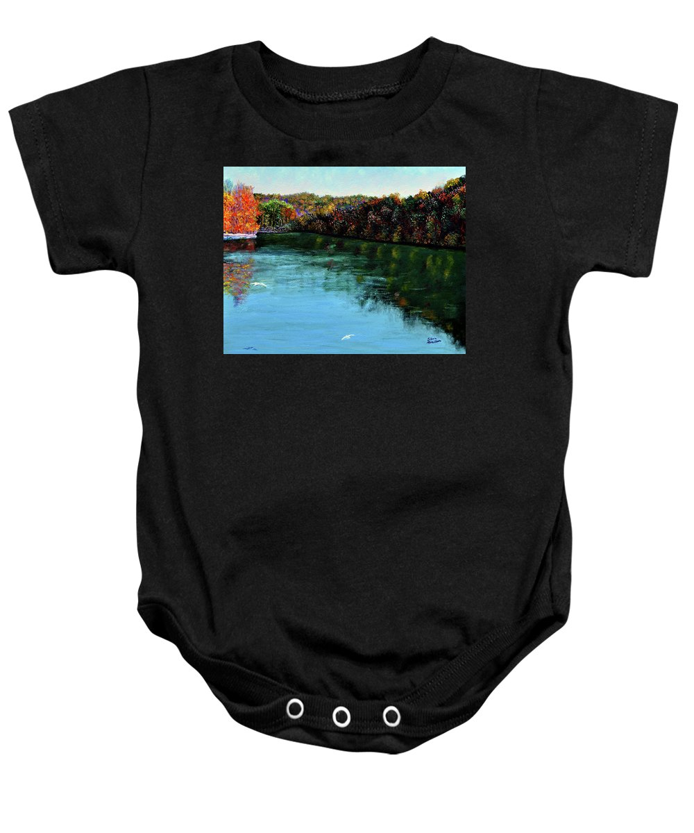 Lake Baby Onesie featuring the painting Hdemo1 by Stan Hamilton