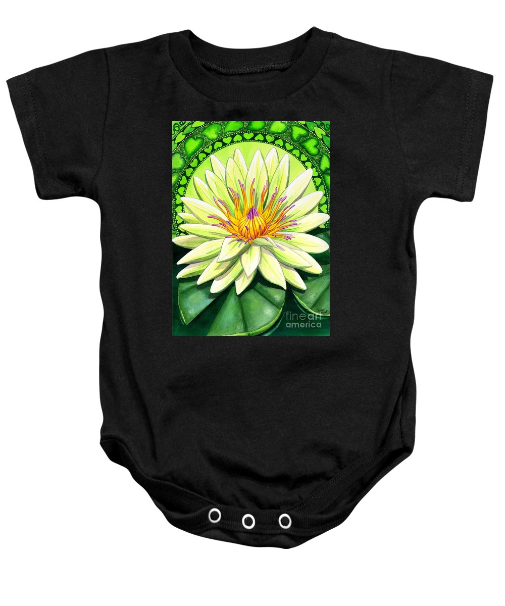 Heart Baby Onesie featuring the painting Heart Chakra by Catherine G McElroy