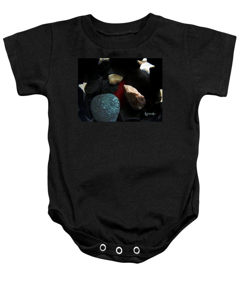 Rocks Baby Onesie featuring the photograph Heart Of Stone by RC DeWinter