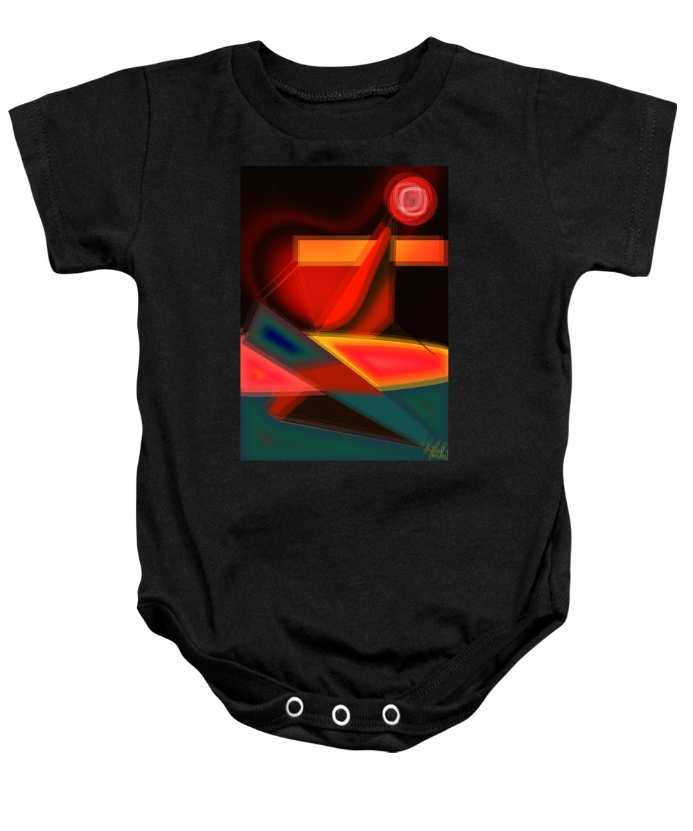 Heartbeat Baby Onesie featuring the digital art Heartbeats by Helmut Rottler
