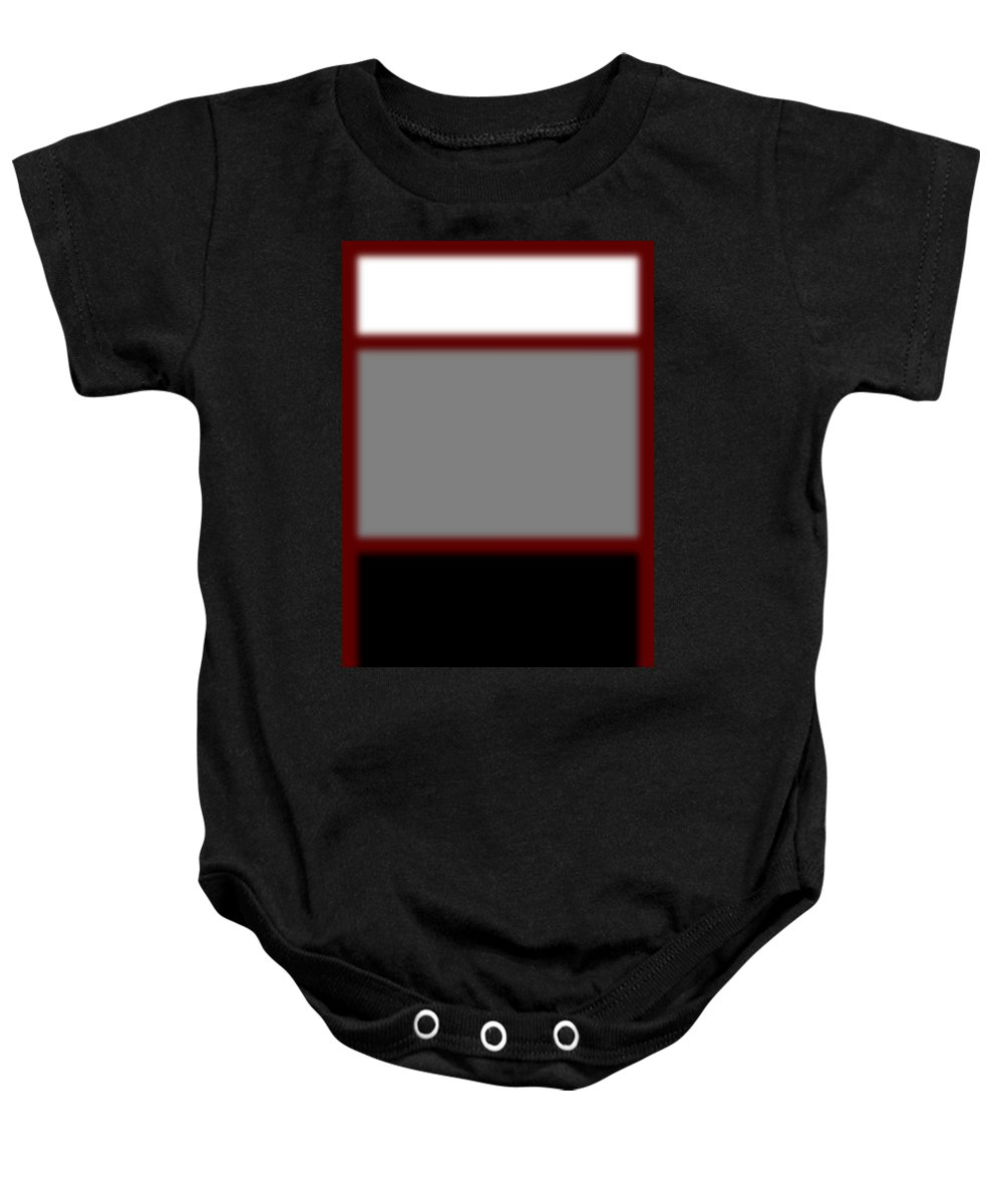 Heaven Baby Onesie featuring the digital art Heaven, Purgatory, And Hell by Maria Cristina De Ramos