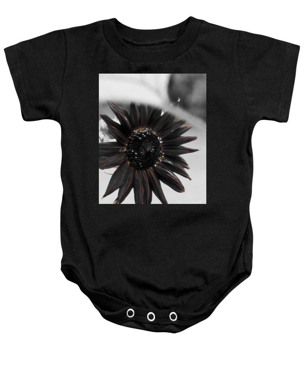 Sunflower Baby Onesie featuring the photograph Hells Sunflower by September Stone