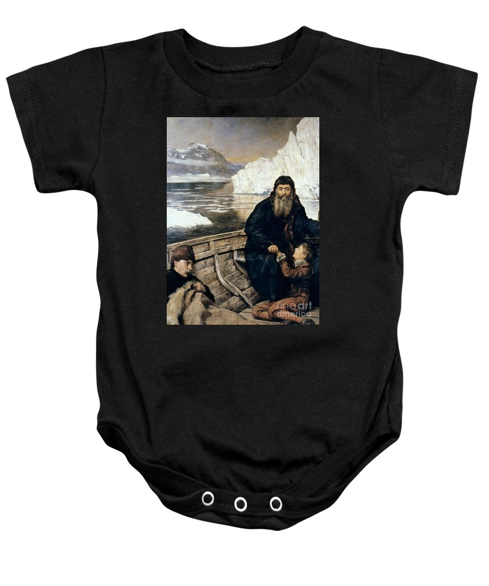 1611 Baby Onesie featuring the painting Henry Hudson And Son by Granger