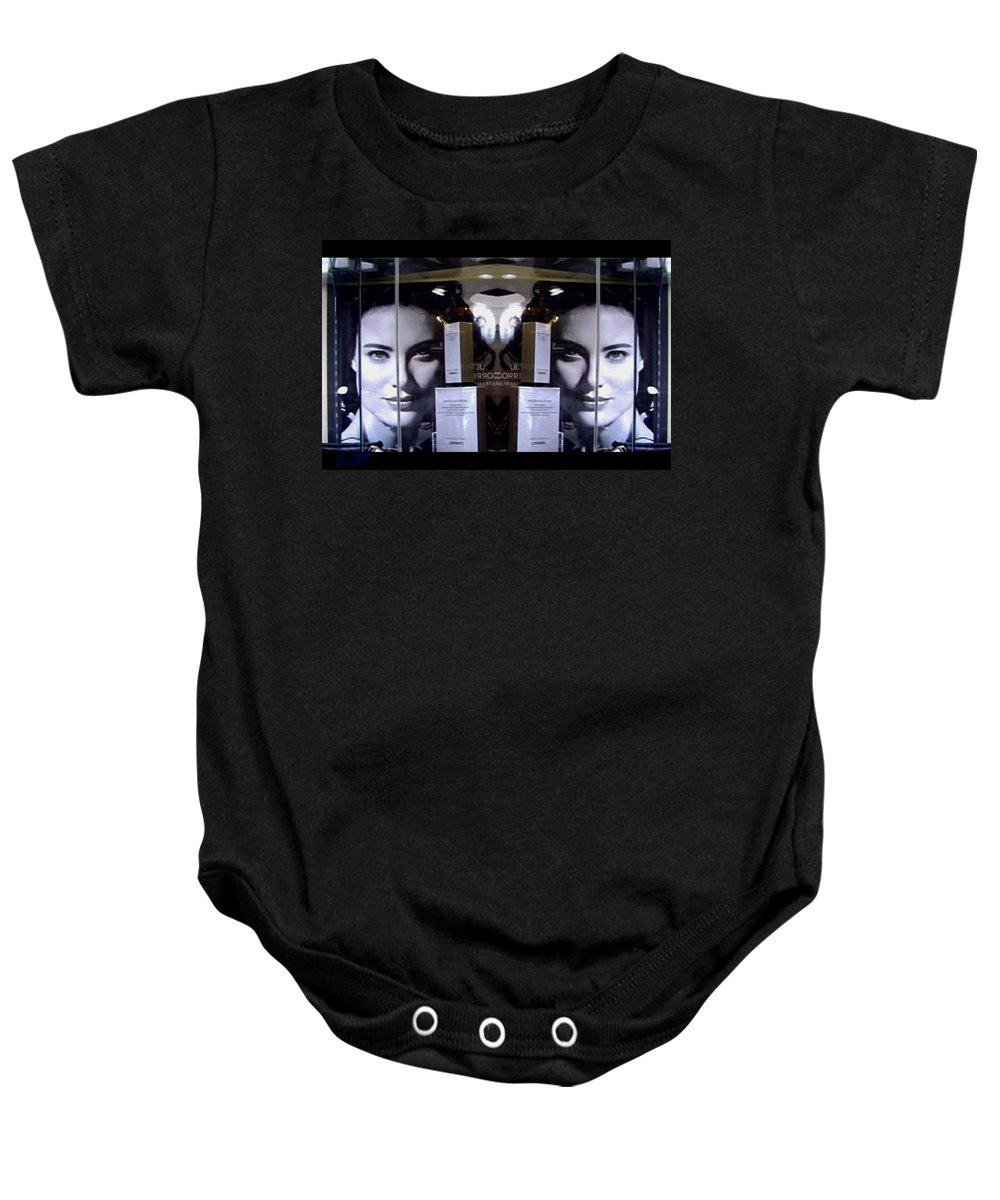 Dream Baby Onesie featuring the photograph Here by Charles Stuart