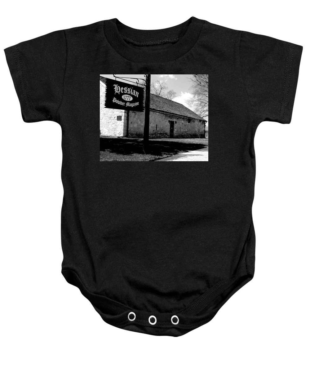 Hessian Baby Onesie featuring the photograph Hessian Powder Magazine by Jean Macaluso