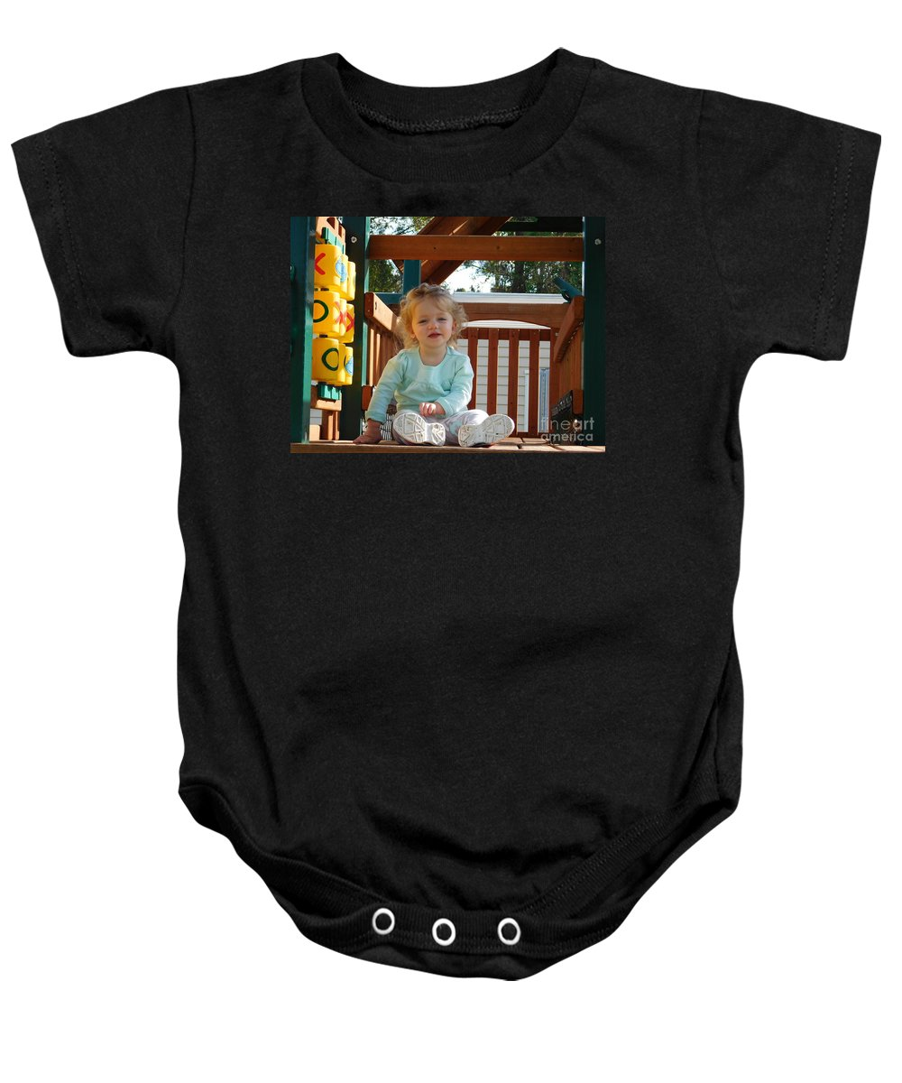 Photograph Baby Onesie featuring the photograph Hi Beautiful by Chrisann Ellis