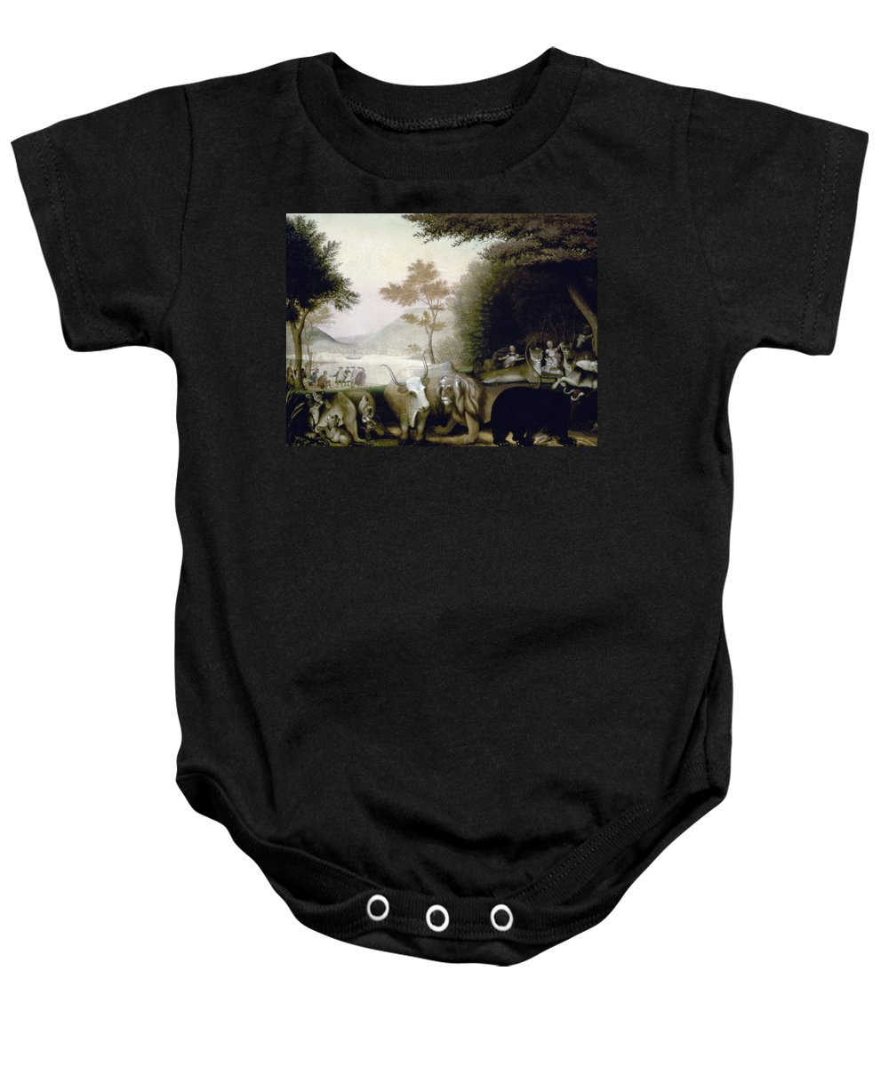 19th Century Baby Onesie featuring the photograph Hicks: Peaceable Kingdom by Granger