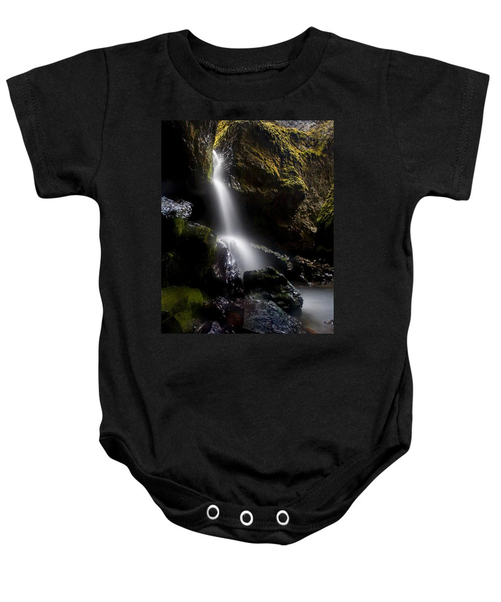 Waterfall Baby Onesie featuring the photograph Hidden Falls by Mike Dawson