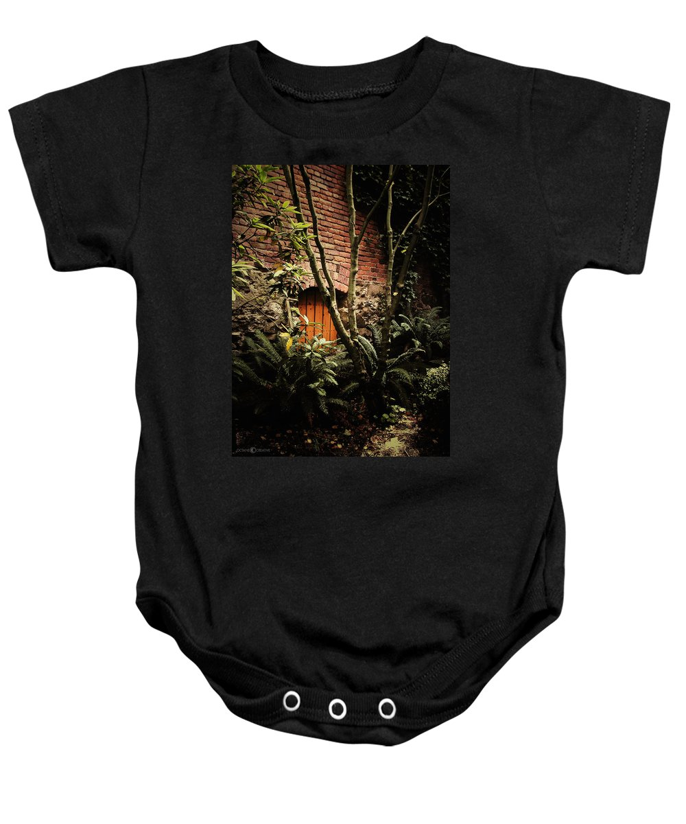 Brick Baby Onesie featuring the photograph Hidden Passage by Tim Nyberg