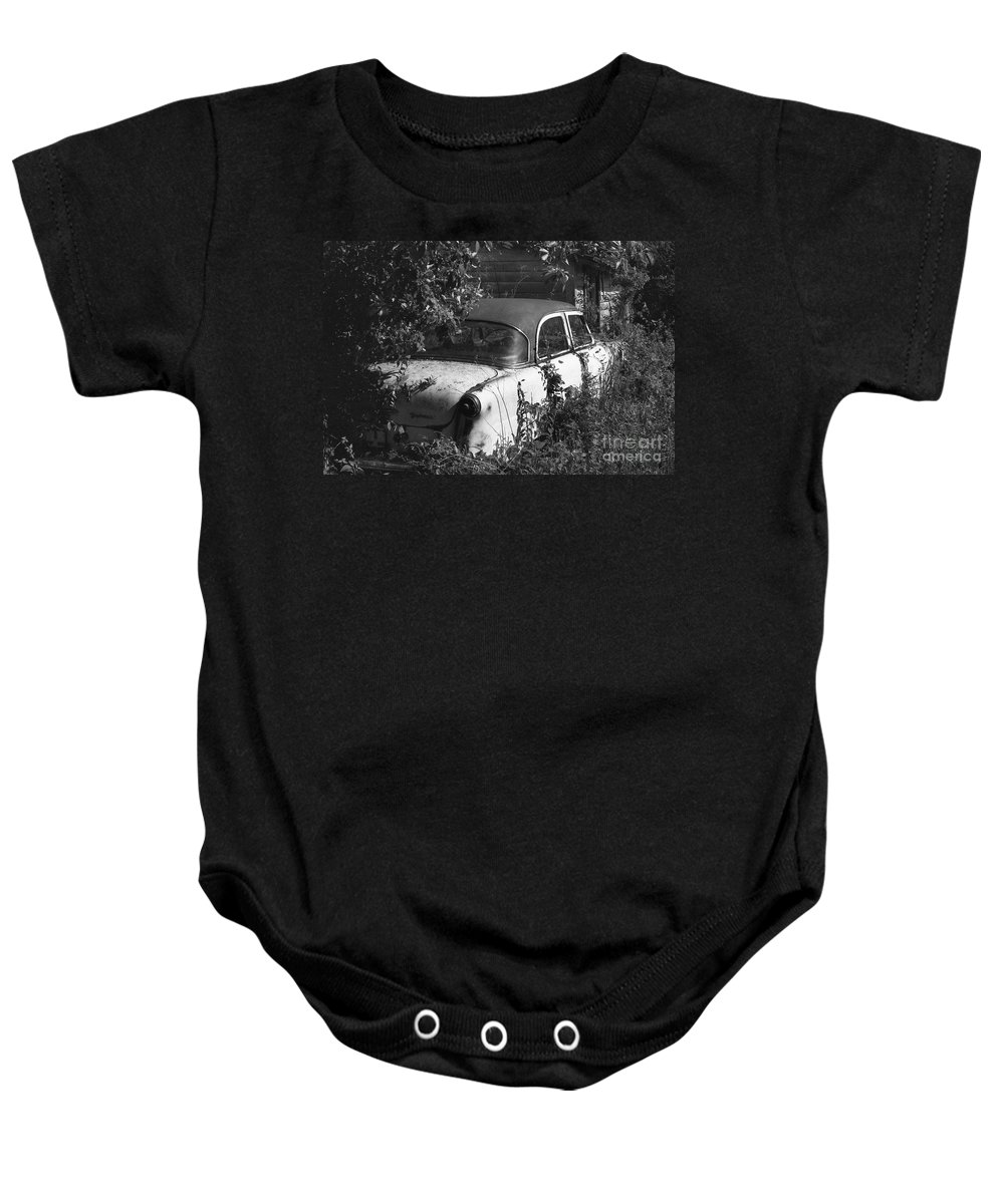 Abandoned Baby Onesie featuring the photograph Hidden Treasure by Richard Rizzo