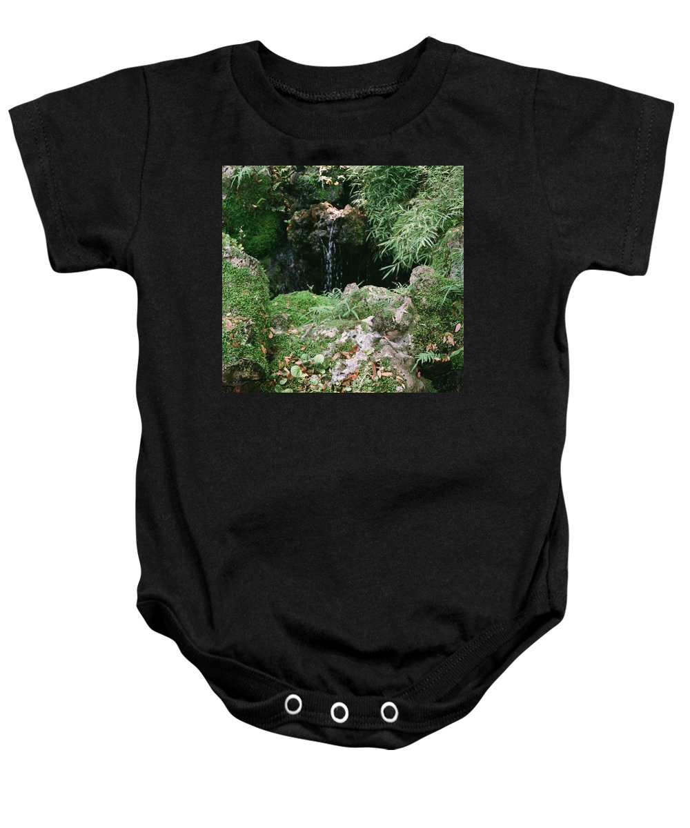 Nature Baby Onesie featuring the photograph Hidden Waterfall by Dean Triolo