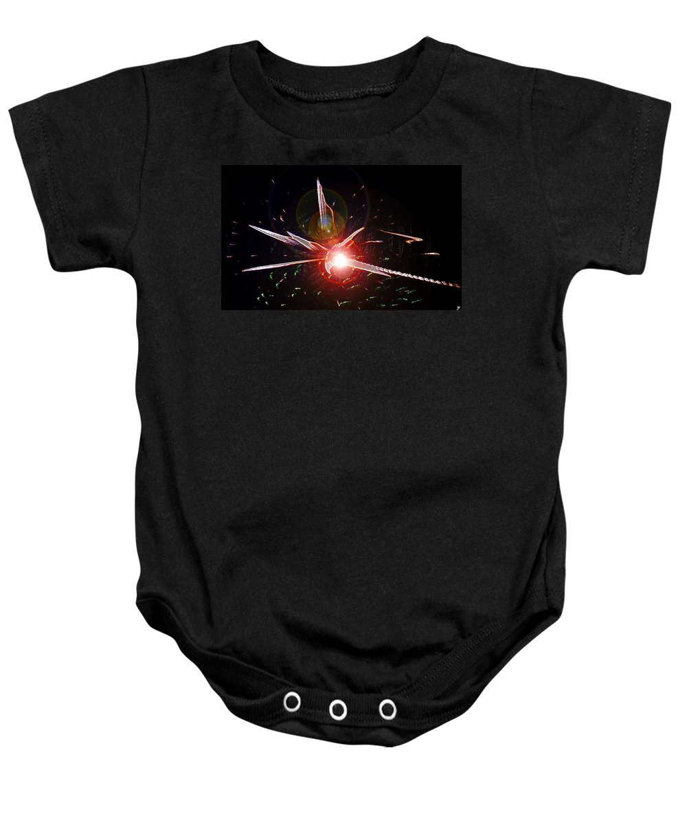 Higgs Boson Baby Onesie featuring the painting Higgs Boson Work B by David Lee Thompson