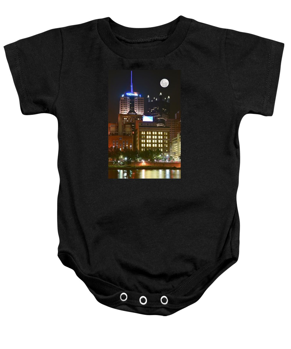 Pittsburgh Baby Onesie featuring the photograph Highmark by Frozen in Time Fine Art Photography