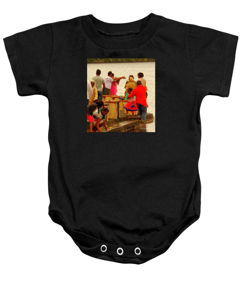 Hinduism Baby Onesie featuring the photograph Hindu Offering 2 by John Potts