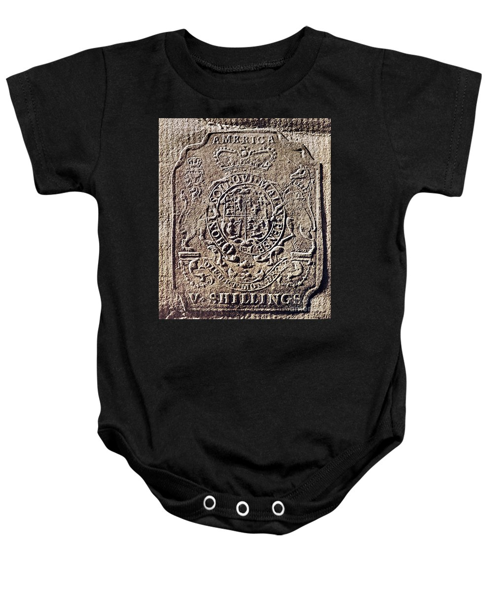 18th Century Baby Onesie featuring the photograph History Of Usa: Stamp Act by Granger
