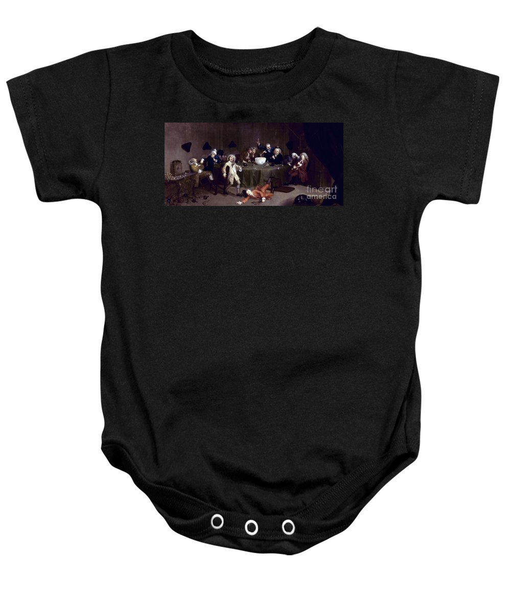18th Century Baby Onesie featuring the photograph Hogarth: Midnight, 1731 by Granger