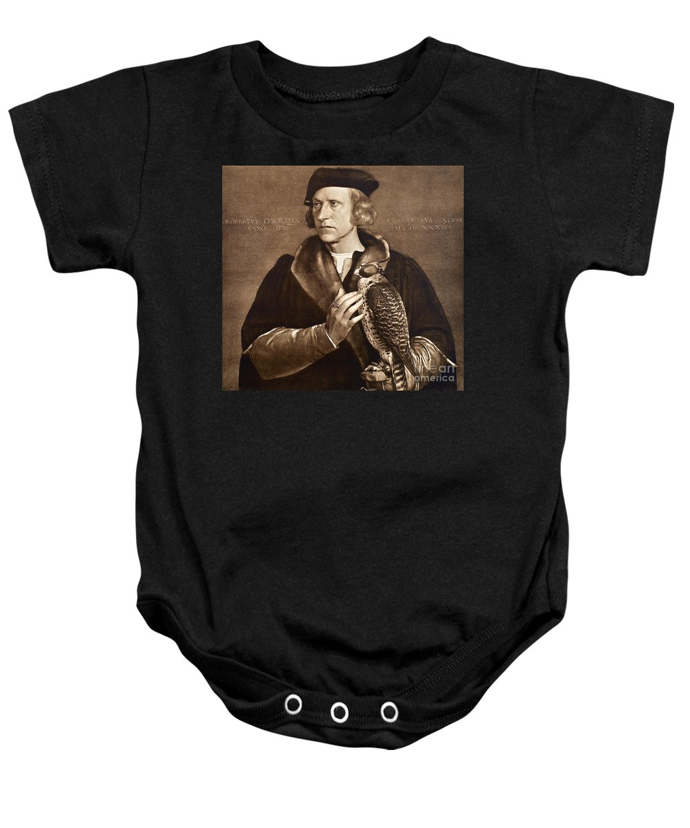 1533 Baby Onesie featuring the photograph Holbein: Falconer, 1533 by Granger