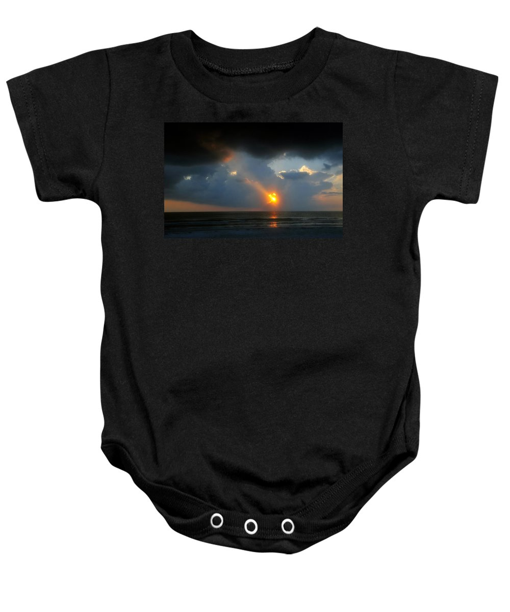 Beach Baby Onesie featuring the photograph Hole In The Gulf by David Lee Thompson