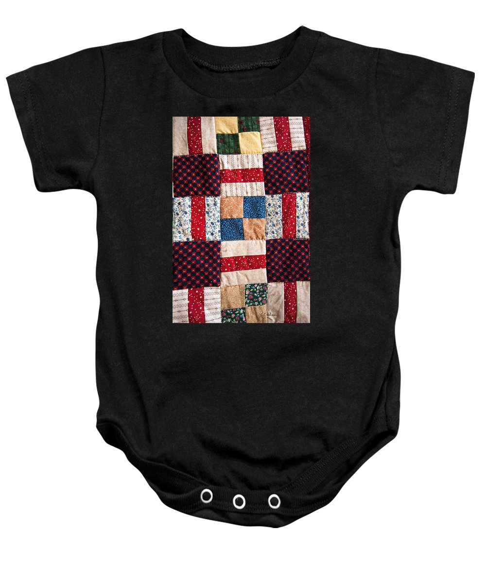 Quilt Baby Onesie featuring the photograph Homemade Quilt by Christopher Holmes