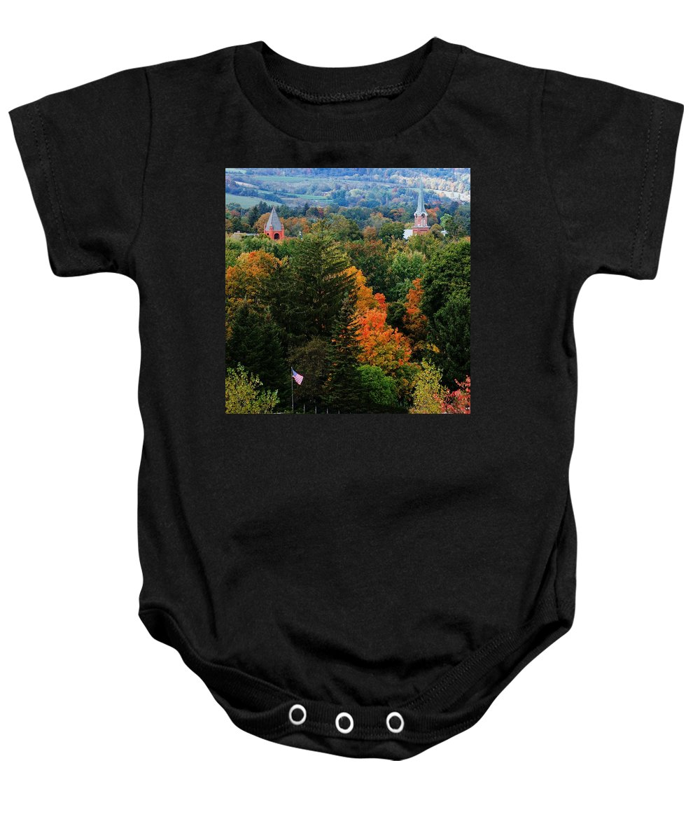 Landscape Baby Onesie featuring the photograph Homer Ny by David Lane