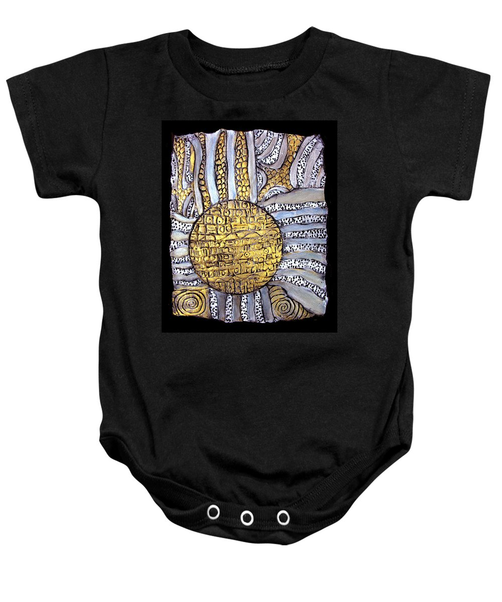 Metal Baby Onesie featuring the painting Honor To The Sun by Wayne Potrafka