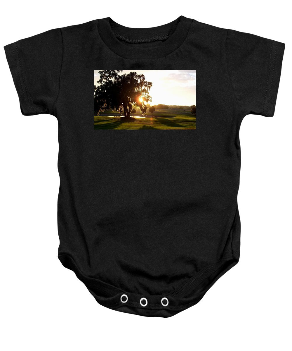 Sunset Baby Onesie featuring the photograph Horse Country Sunset by Kristen Wesch