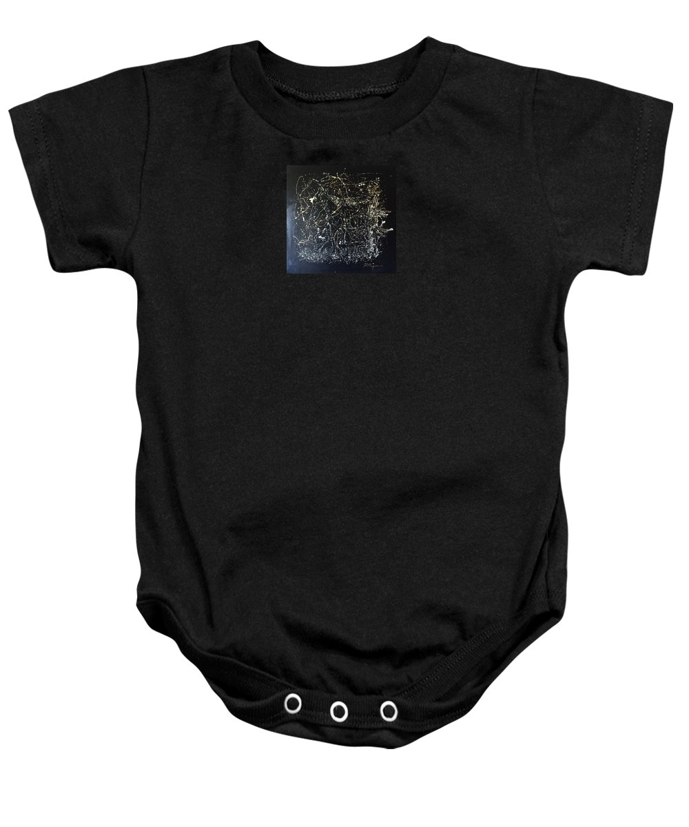 Abstract/impressionist Painting Baby Onesie featuring the mixed media Horse In Pasture by J R Seymour