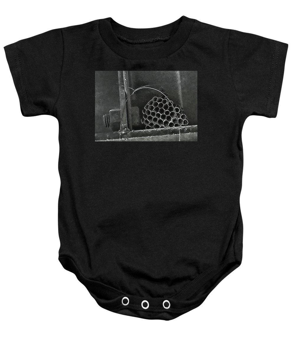 Wasp Baby Onesie featuring the photograph Hostel by Wendy J St Christopher